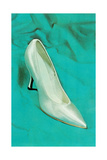 One Silver High-Heeled Shoe