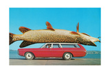 Stationwagon with Giant Trout