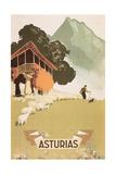 Travel Poster for Asturias  Spain