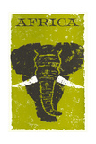 Travel Poster for Africa  Elephant