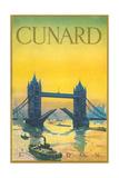 Cunard  Tower Bridge Travel Poster