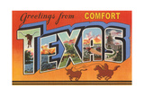Greetings from Comfort  Texas