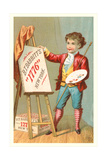 Little Boy with Easel
