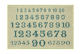 Sampler with Numbers