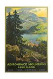 Adirondacks Travel Poster Reproduction d'art