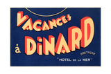 Vacances a Dinard  Hotel De La Mer