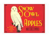 Snow Owl Apple Label