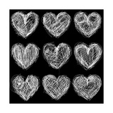 Hearts Chalkboard  Love Background and Texture