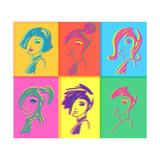 Young Fashion Woman Design  Pop Art