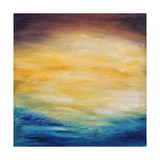 Beautiful Abstract Textured Background of Evening Sunset Sky over the Ocean