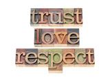 Trust  Love  Respect Words