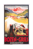 Travel Poster for Bozen-Gries