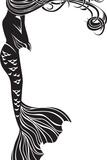 Crying Mermaid Stencil Reproduction d'art par Kristina0702