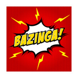 Bazinga! Comic Speech Bubble  Cartoon