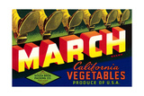 Crate Label for March Vegetables