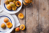 Rustic Still Life with Apricots