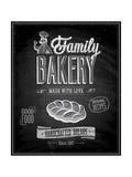 Vintage Bakery Poster - Chalkboard