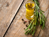 Cooking Oil and Fresh Rosemary