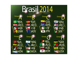 Brasil 2014 Country Grops Table