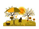 Récolte des pommes Reproduction d'art par Beta757