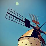 Old Windmill Fuerteventura  Canary Islands  Spain