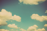 Blue Sky Vintage and Natural Background