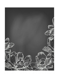 Flowers on Chalkboard