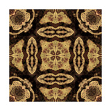 Art Nouveau Geometric Ornamental Vintage Pattern in Beige and Brown Colors