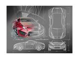 Sports Car Blueprints for Concept Car