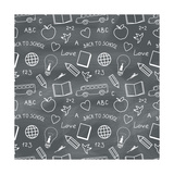Back to School Chalkboard Pattern
