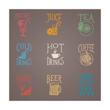 Colorfull Menu Icons - Drinks