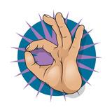 Vintage Pop Art Ok Hand Sign