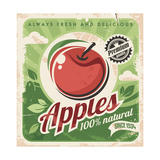 Apples Retro Poster