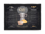 Vintage Chalk Coffee and Croissants Menu
