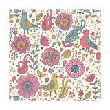 Pigeons in Flowers