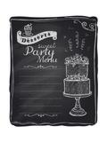 Chalk Desserts Party Menu