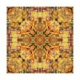 Art Nouveau Geometric Ornamental Vintage Pattern in Beige and Brown Colors