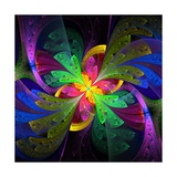 Multicolor Beautiful Fractal Flower