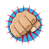 Vintage Pop Art Punching Fist