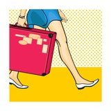 Travelling Girl with a Suitcase
