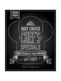 Chef's Specials Poster Chalkboard