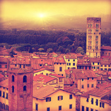 Lucca at Sunset  Old Town in Tuscany