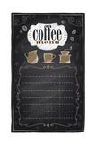 Vintage Chalk Coffee Menu