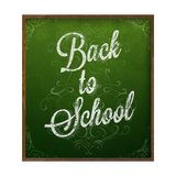 Back to School  Chalk Blackboard