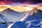 Fantastic Evening Winter Landscape
