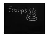 Soups Menu on the Chalkboard