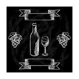 Restaurant or Bar Wine List on Chalkboard Background