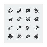 Vegetables Mini Icons Set