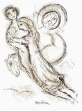 Plafond de Lopera - Romeo et Juliette Reproduction pour collectionneurs par Marc Chagall