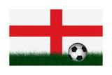 Soccer Ball over Green Grass